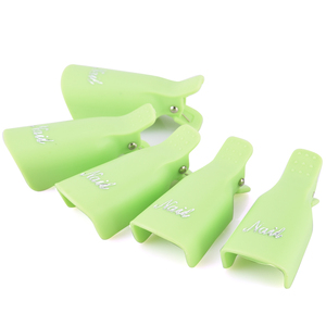 Image 5 - OYAKOM 5 uds removedor de esmalte de uñas de plástico duradero remojo de tapa Clip UV Gel removedor de esmalte herramienta de envoltura puntas de Arte de uñas