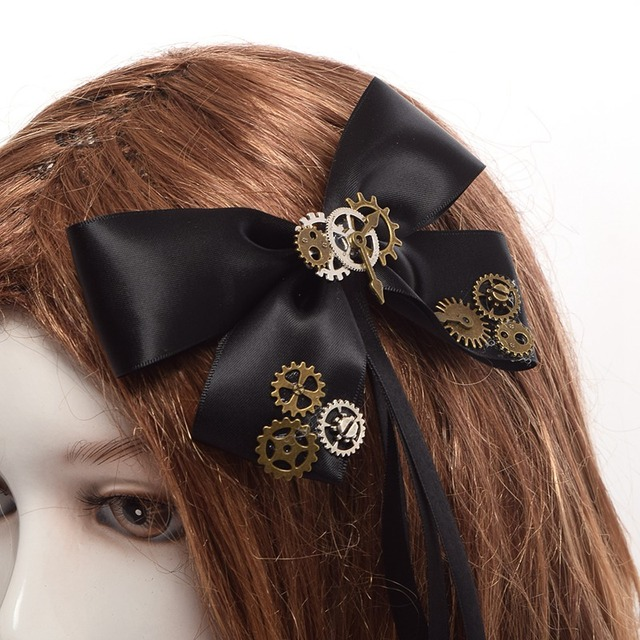Bow Tie Steampunk Hair Clip – Augment Your Hair!