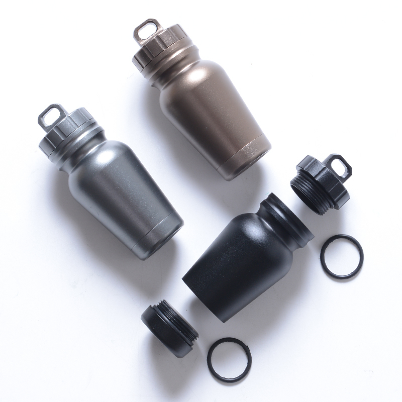 Mini EDC Survival Equipment Waterproof Box Emergency Medicine Bottles Outdoor Tool First Aid Container Storage (7)