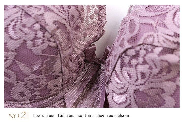 Plus size Foreign Trade Ultra-thin Lace Sexy Thin Cotton Cup Plump Big Push Up Bra Bralette Encaje Sexy Bra modis lingerie 41