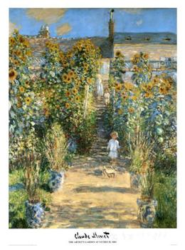 Garden at Vetheuil Claude Monet garden oil painting reproduction Hand painted High quality