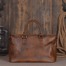 Retro Genuine Leather Vintage Style Hand Bag