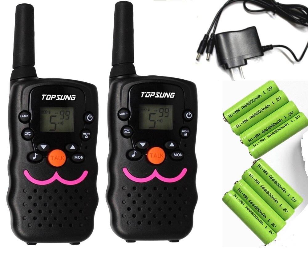 2 pc double VT8 FRS Talkie Walkie CB radio hf émetteur-récepteur 1 W longue portée woki toki amateur UHF 2 radios bidirectionnelles avec chargeur batteries