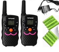 2pc twin VT8 FRS Walkie Talkie CB radio hf transceiver 1W long range woki toki amateur UHF 2 way radios with charger batteries