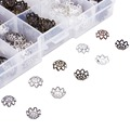 525pcs/box 5Colors Metal Flower Bead Caps 9x4mm Vintage Filigree DIY Jewelry Making Findings Accessories components supplies