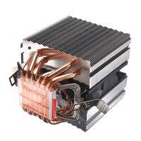 90mm Heat Pipe 6 Heatpipe Desktop Computer CPU Cooler Fan Bracket Ultra Quiet Heatsink for Intel 1156/1155/1150/775