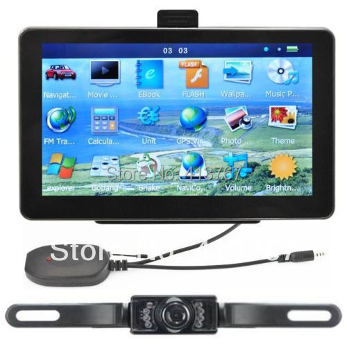 7 Car GPS Navigation Wireless Reverse Camera Bluetooth AV IN New Map 4GB POI