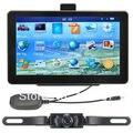 """7 """"GPS Car Navigation + Wireless Câmera Reversa Do Bluetooth AV-IN Novo Mapa 4 GB POI"""