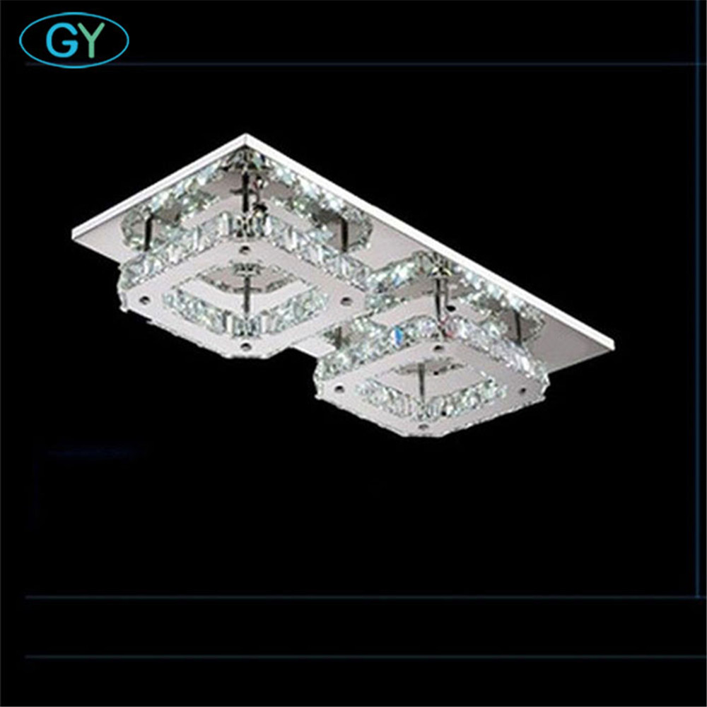 AC100-240V 40*20cm 24W Modern LED Crystal Ceiling Light Fitting Crystal Lamp Hallway Corridor decor ceiling lamp GY lighting стоимость