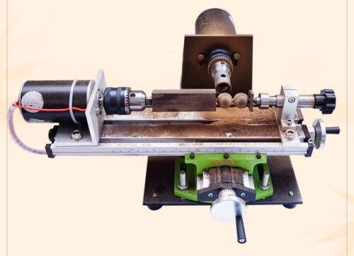Мини Бусы токарный станок домашний токарный станок DIY деревянные бусины Деревообрабатывающие инструменты 220 В