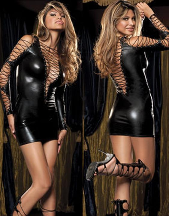 Faux Leather Clubwear