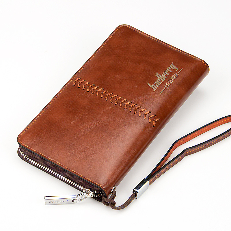 Baellerry Large Capacity Men Wallets Long Wallet Cell Phone Pocket ID Card Holder Casual Top Quality Men Clutch Bag Money Bag