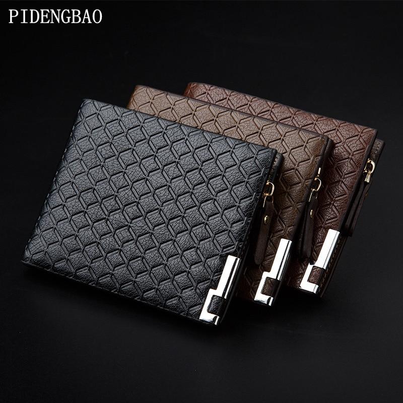 PIDENGBAO Modeplånböcker Kvalitet Pu Stripe: Zipper Design - Plånböcker