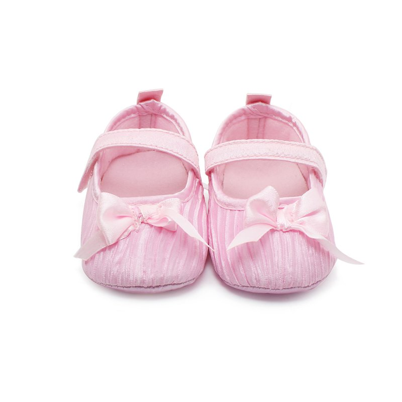 Lovely Baby Girl Toddler Newborn Damask Bowknot Soft Crib Shoes Non Slip Shoes