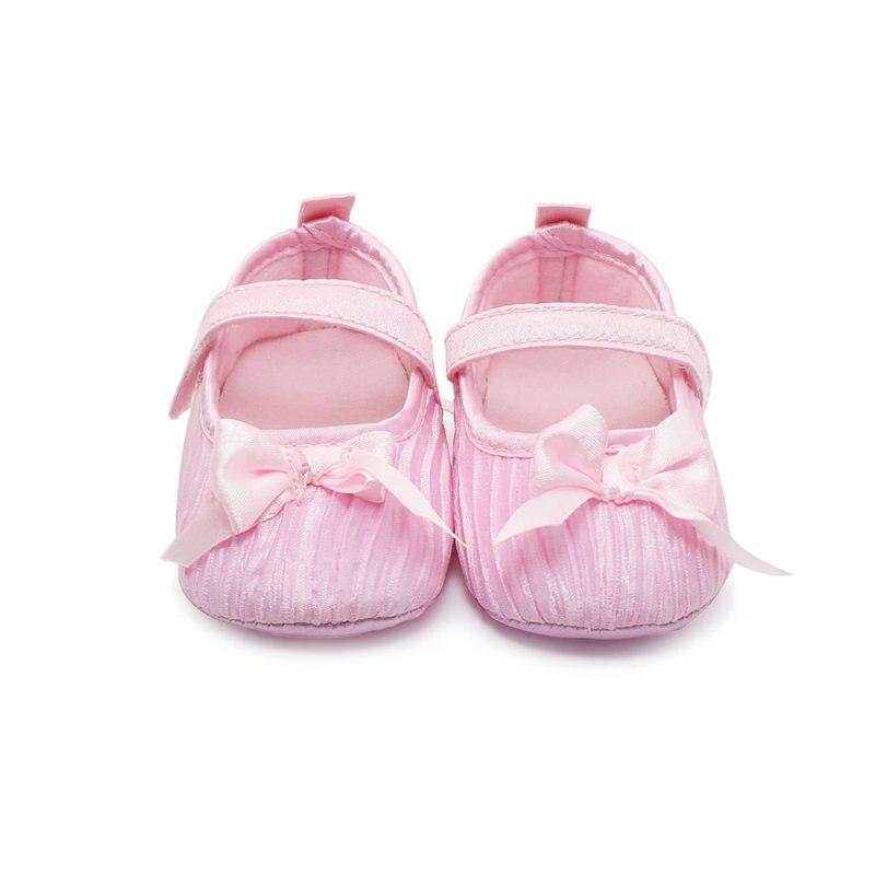 Meninas encantadoras do bebê da criança recém-nascidos damasco Bowknot macio berço sapatos antiderrapante sapatos de shiping livre e transporte da gota
