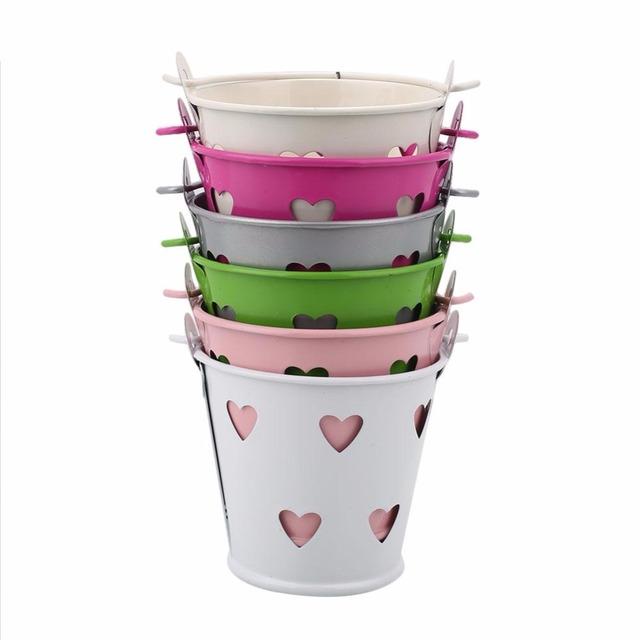 Hollow Mini Flower Pot Metal Barrel Plant Pot Vertical Garden Pots Balcony Decorations Macetas Pot De Fleur