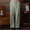 Nova Chegada Calças de Algodão De Linho Kung Fu dos homens Chineses Kung Fu Pant Calças de Tai Chi Wu Shu Calças Tamanho M L XL XXL XXXL W33