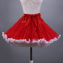 2017 Short Petticoat Woman Underskirt soft Tulle Bridal Petticoat Ruffled Knee Length Colorfulle New arrival cause dresses stock