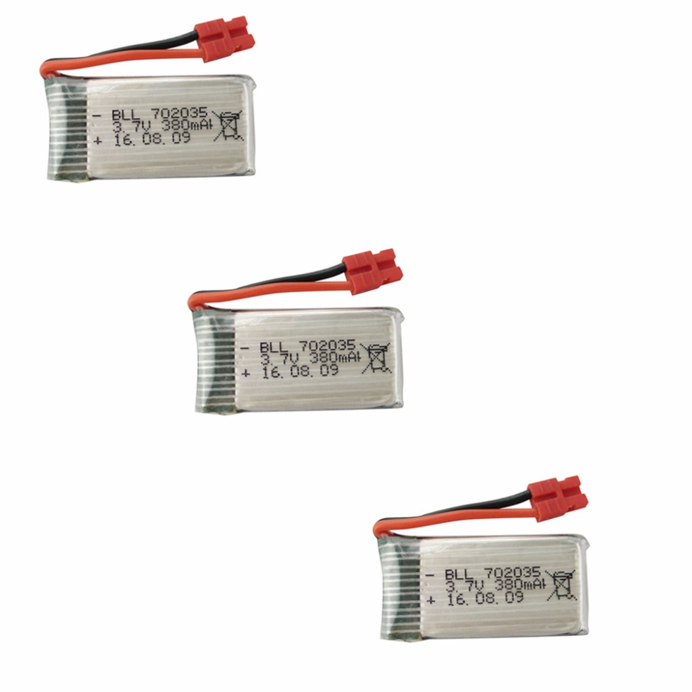 RC spare parts 3PCS <font><b>3.7V</b></font> <font><b>380mah</b></font> <font><b>LiPo</b></font> <font><b>battery</b></font> for SYMA X5A-1 X15 X15C X15W remote control Quadcopter Helicopter image
