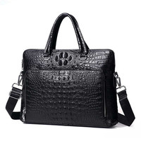 Special Offer! High Grade Alligator Pattern Genuine Leather Handbags Classic Cowhide Business Men Briefcase