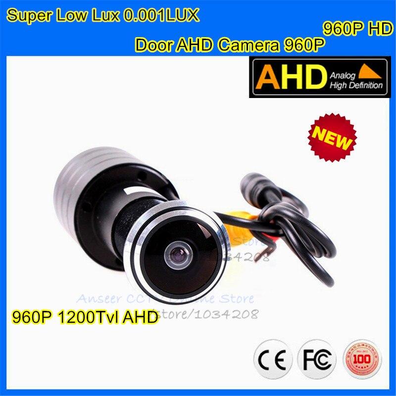Nouvelle Porte Trou AHD Caméra 960 P 0.001lux Cat Eye Porte trou de Sécurité Couleur Caméra CCTV Vidéo AHD Caméra de Surveillance 178 degrés