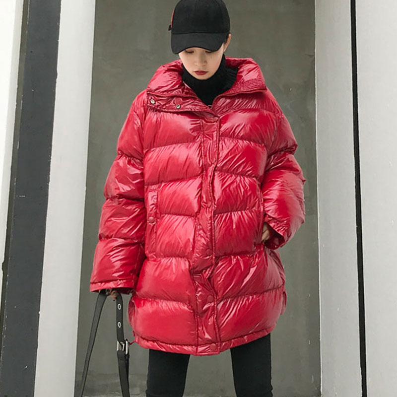 Plus größe Winter Unten Jacke frauen Zipper Mode Dicke Baumwolle Jacken Oberbekleidung Warme Jacke Parka Lose Winter Mantel Frauen 805-in Parkas aus Damenbekleidung bei  Gruppe 3