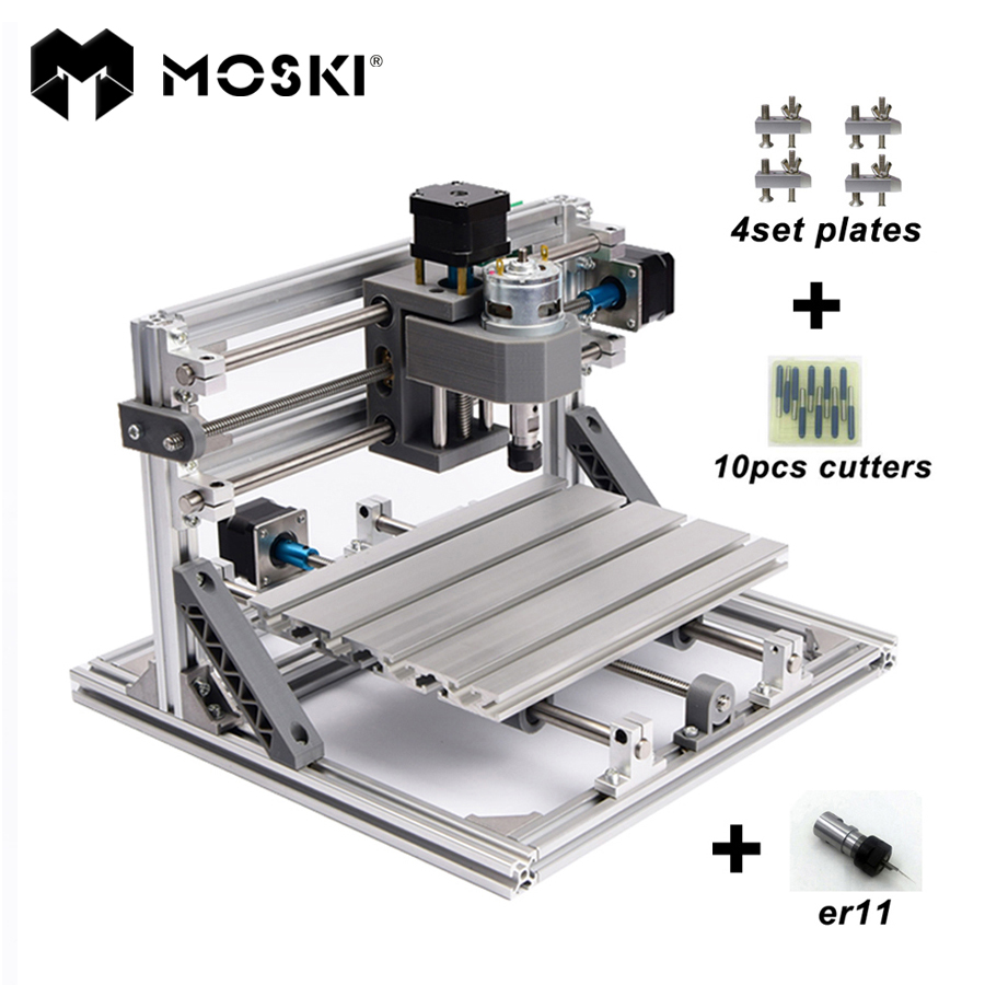 MOSKI,CNC 2418 with ER11,mini cnc laser engraving machine,Pcb Milling Machine,Wood Carving machine,cnc router,cnc2418,best gifts cnc 1610 with er11 diy cnc engraving machine mini pcb milling machine wood carving machine cnc router cnc1610 best toys gifts