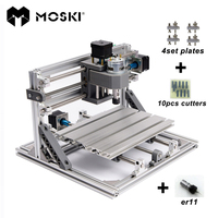CNC 2418 With ER11 Laser Options Mini Cnc Engraving Machine Pcb Milling Machine Wood Carving Machine