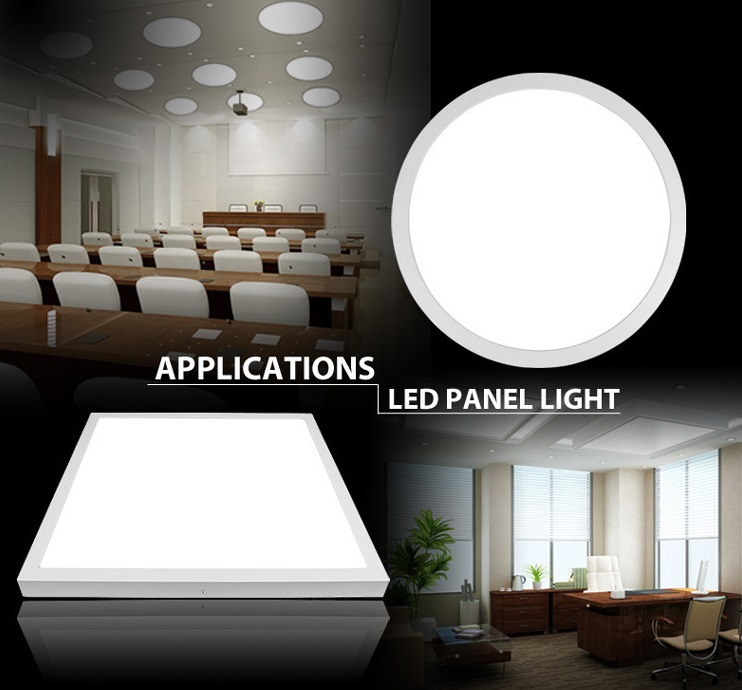 ФОТО 600MM 40W Dimmable Surface mounted Round led panel light SMD2835 AC85-265V
