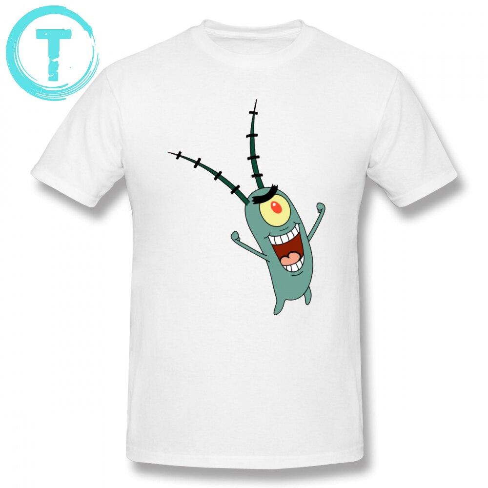 caeb9fbb543 Nickelodeon T Shirt Plankton T-Shirt Graphic Cotton Tee Shirt Plus size Men  Fashion Short Sleeve Fun Tshirt