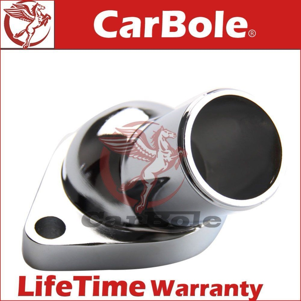 CarBole 2660 stainless Steel Plated Water Necks with O Ring 15 Degree for Chevy B7