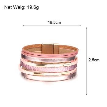 Multilayer Wide Bracelet sizing dimensions