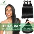 Cabelo virgem malaio retas 3 feixes de cabelo reto malaio beau diva 7a não processado virgem tecer cabelo humano frete grátis