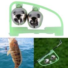 Hot Sale 1pcs  LED Night Fishing Accessory Fishing Bell Float Twin Bell Ring Fish Fishing  Bite Double Alarm Alert Clip Bells