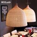 Willlustr ручной работы плетеная Подвесная лампа для столовой гостиной подвесной светильник для отеля зала ресторана подвесное освещение