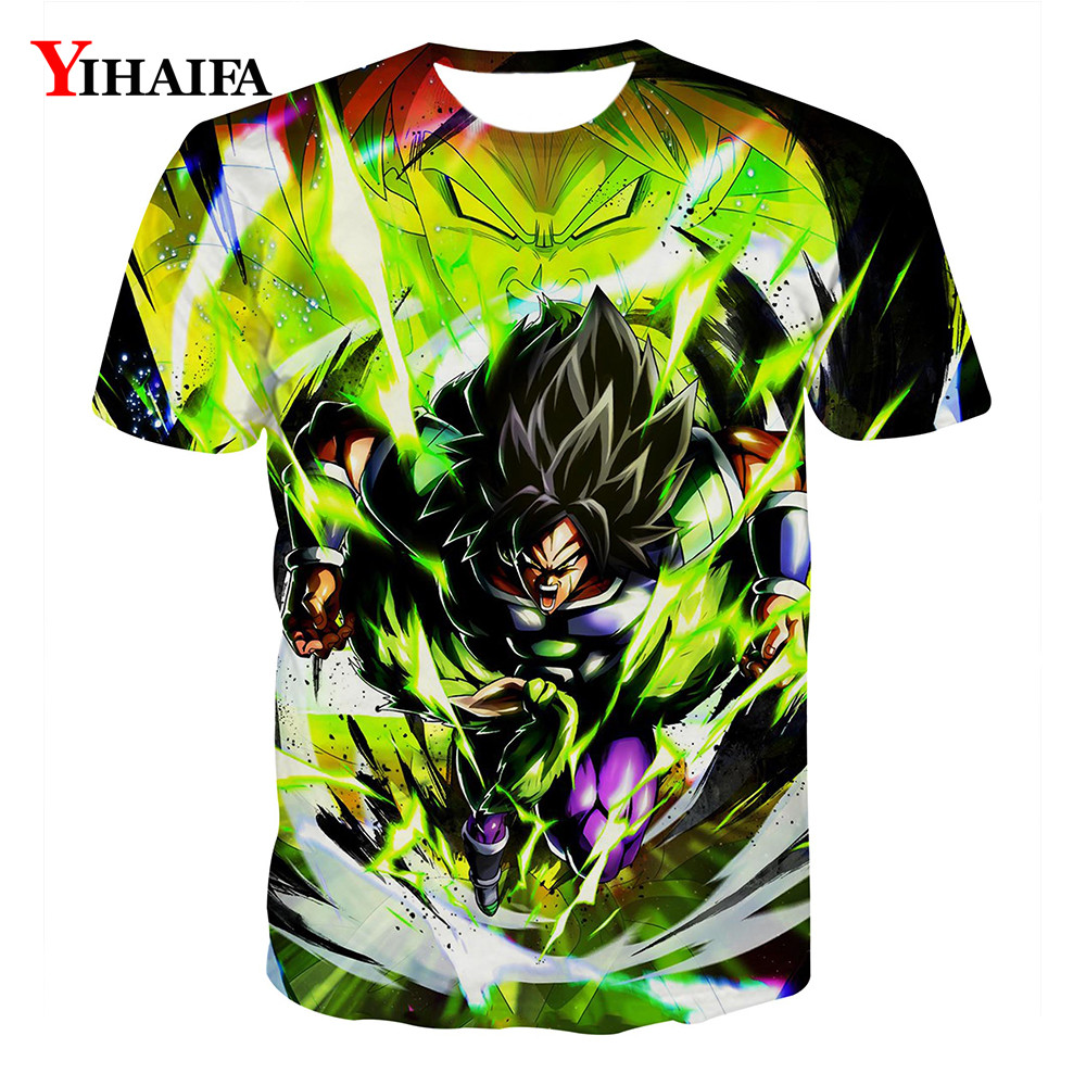 2019 Newest Men T shirt 3D Print Dragon Ball Z Goku Graphic Tees Anime Cartoon Casual Tee Shirts Hombre Short Sleeve Tops(China)