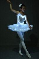 LED light Swan Lake Noctilucan Light LED ballet skirt Adult children fluffy fluorescent performance clothing Dance Costume