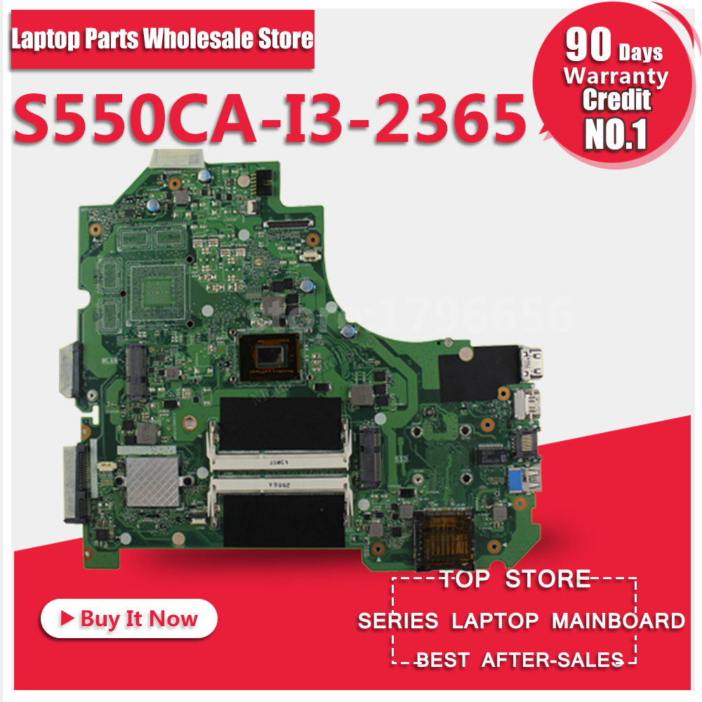 Free Shipping For ASUS S550CA I3-2365 Laptop Motherboard System Board Main Board Mainboard Card Logic Board Tested Well for asus x55vd laptop motherboard rev2 2 gt610m 2gb ram mainboard laptop motherboard system board logic board tested well