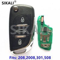 SIKALI Car Remote Key Suit For Peugeot 208 2008 301 508 434Mhz With Chip