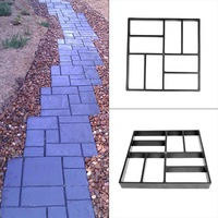 DIY Cement Mould Brick Path Makeru00a0Mold Plastic Path Maker Pavement Mold Concrete Practical Durable Stepping Stone