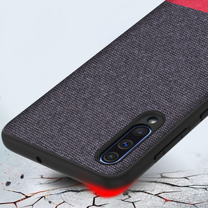Image 2 - KEYSION Phone Case for Samsung Galaxy A50 A30 A70 Luxury Colors Splice PU Leather Cloth TPU Black Cover for Samsung S10 Plus