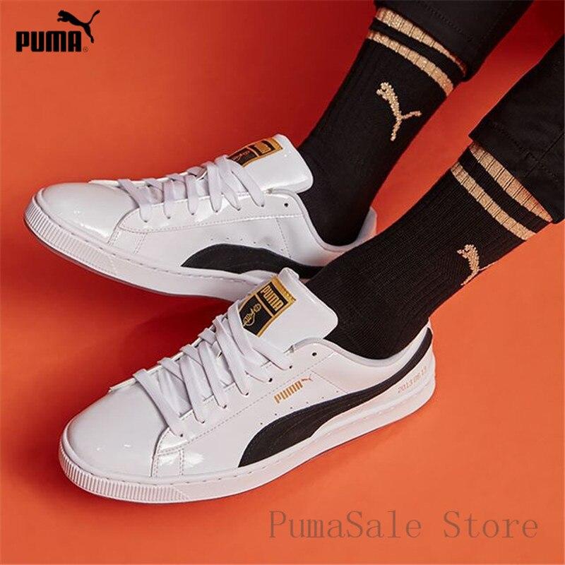 PUMA X BTS Basket Patent Shoes Bangtanboys Collaborat Classic Sneaker  Unisex  Men s  Women s Sneaker Shoes Size35.5-44 1846bf4a6