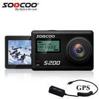 Caméra 4 k sport avec boîtier caméra 4 k action S200 avec microphone GPS télécommande écran tactile action caméra monture