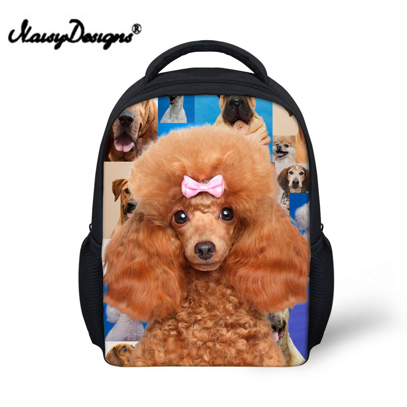 Noisydesigns Unique Backpack Dog Print for Toddler Kids Pretty Little Boys Girls School Bagpack Preppy Child Baby Bookbag