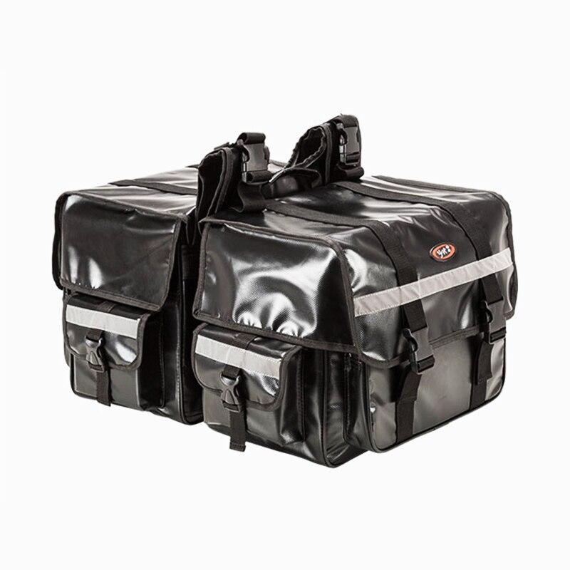 70L большая емкость мотоциклетная седельная сумка Moto Saddlebags водостойкая Светоотражающая багажная сумка мотоциклетная сумка для сидения сбок...