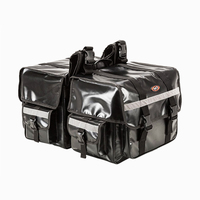 70L Large Capacity Motorcycle Saddle bags Moto Saddlebags Waterproof Reflective Luggage Suitcase Motorbike Seat Bag Side Bag
