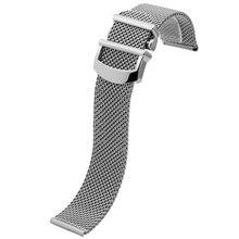 NESUN Livraison Gratuite 20mm En Acier Inoxydable Bracelet Pour IWC PORTOFINO Montre-Bracelet Sangle