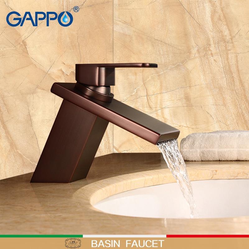 GAPPO Basin Faucet ORB deck mount waterfall basin mixer bathroom sink faucet Brass water mixer bathroom taps waterfall faucet