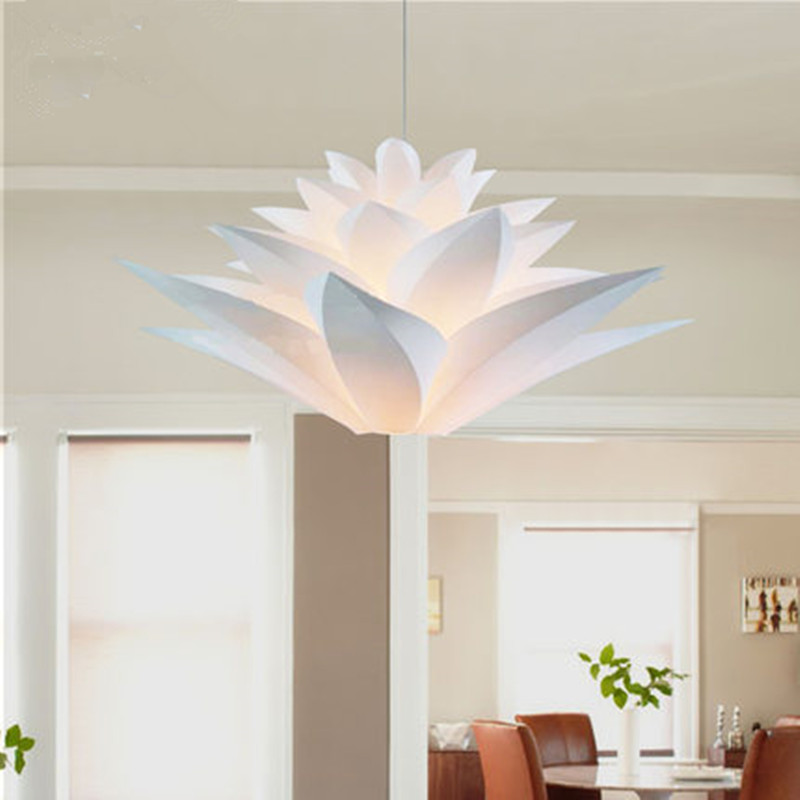 diy modern lighting. aliexpresscom buy modern lily flowers pendant lights kitchen lighting diy pvc lotus lamp led hanging light fixtures luminarias e27 from diy