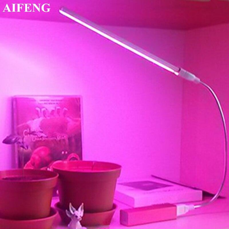 Gastfreundlich Aifeng Led Wachsen Licht Gesamte Spektrum Rot Blau 5 V Usb Wachsen Lichter Flexible Schlauch 3 Watt 5 Watt Für Setzlinge Blühenden Pflanzen Wachsen Licht Festsetzung Der Preise Nach ProduktqualitäT